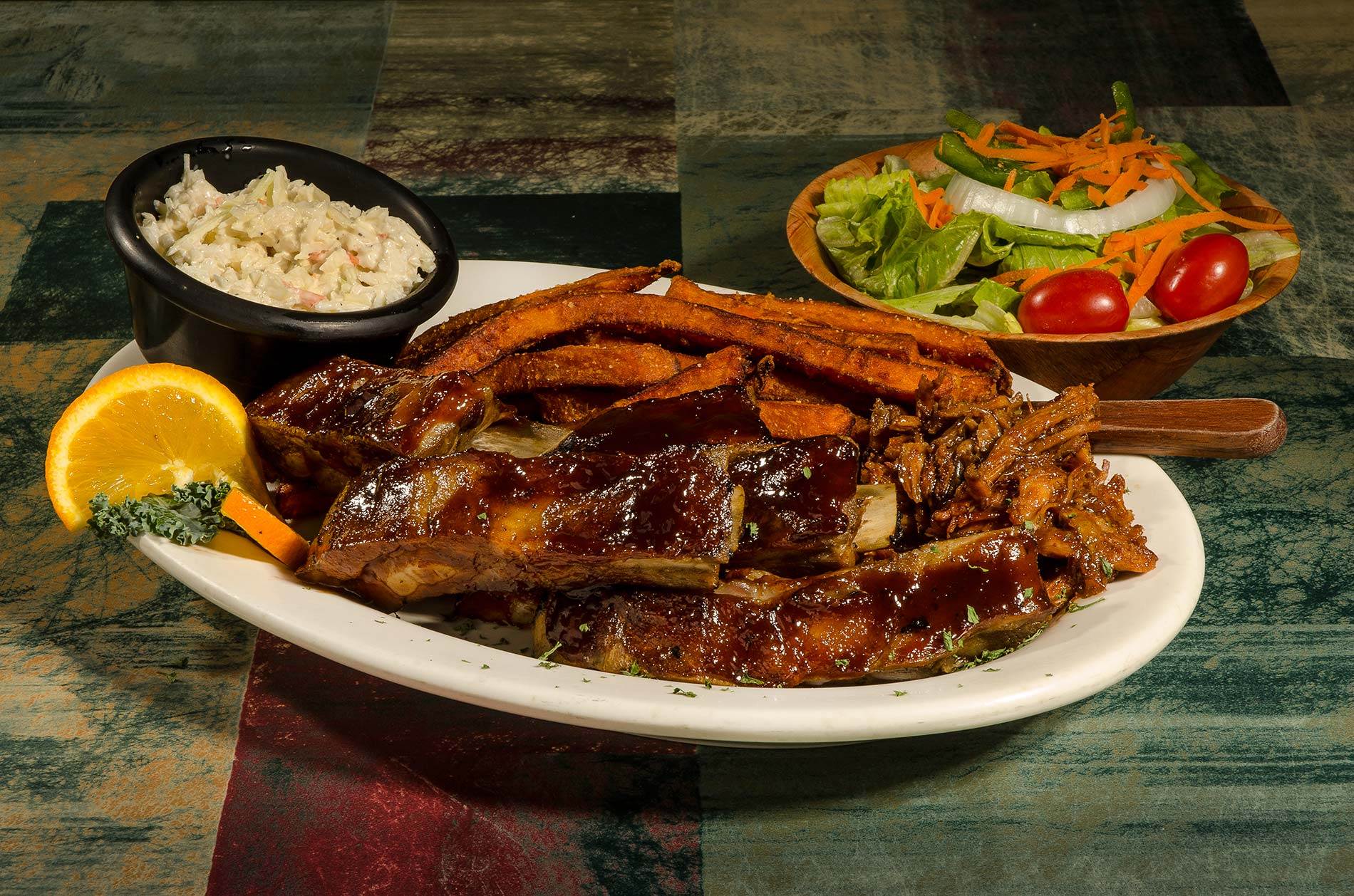 Bbq Specialties Ribs Combos Georges Seafood Restaurant In Plymouth Nh